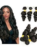 Недорогие -6 Связок Бразильские волосы Перуанские волосы Свободные волны Не подвергавшиеся окрашиванию Необработанные натуральные волосы Человека ткет Волосы Удлинитель Пучок волос 8-28 дюймовый / Без запаха