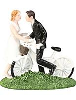 Недорогие -Украшения для торта Пляж / Сад / Классика Классическая пара ABS смолы Свадьба / Особые случаи с Однотонные 1 pcs Подарочная коробка