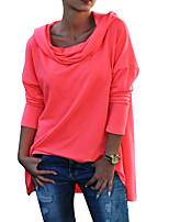 baratos -Mulheres Moda de Rua Moletom Sólido