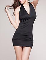 abordables -Femme Uniformes & Tenues Chinoises / Costumes Vêtement de nuit Dos Nu, Couleur Pleine