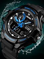 Недорогие -SKMEI Муж. электронные часы Цифровой Стеганная ПУ кожа Черный 50 m Защита от влаги Календарь Секундомер Аналого-цифровые На каждый день Мода - Черный Красный Синий / Хронометр / Фосфоресцирующий