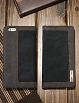 Недорогие -CaseMe Кейс для Назначение Apple iPhone 6 / iPhone 6s Кошелек / Бумажник для карт / со стендом Чехол Однотонный Твердый текстильный для iPhone 6s / iPhone 6