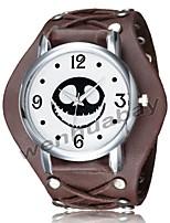 Недорогие -Муж. Часы-браслет Цифровой Черный / Белый / Коричневый Повседневные часы Cool Аналого-цифровые Винтаж На каждый день - Белый Черный Коричневый