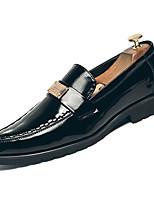 Недорогие -Муж. Комфортная обувь Полиуретан Наступила зима На каждый день Мокасины и Свитер Доказательство износа Черный