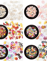 abordables -1 pcs Paillettes Meilleure qualité / Design mince Noël Créatif Manucure Manucure pédicure Noël / Quotidien Doux / Coloré