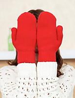 Недорогие -Жен. / Универсальные Классический С пальцами Перчатки Однотонный