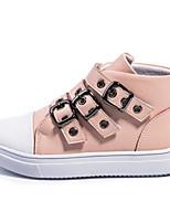 Недорогие -Девочки Обувь Полиуретан Осень Удобная обувь Кеды для Для подростков Белый / Черный / Розовый