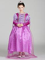 abordables -Belle Costume de Cosplay Fille Enfant Robes Noël Halloween Carnaval Fête / Célébration Tulle Coton Tenue Violet Princesse