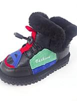 Недорогие -Мальчики / Девочки Обувь Искусственная кожа Зима Удобная обувь / Зимние сапоги Ботинки для Для подростков Черный / Серый / Розовый