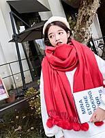 abordables -Sans Manches Cashmere imitation Mariage / Fête / Soirée Foulards pour Femme Avec Gland / Couleur Unie Châles / Echarpes