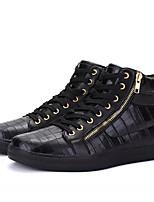 Недорогие -Муж. Комфортная обувь Полиуретан Весна На каждый день Кеды Дышащий Белый / Черный