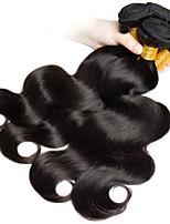 Недорогие -4 Связки Бразильские волосы Монгольские волосы Естественные кудри 8A Натуральные волосы Необработанные натуральные волосы Подарки Косплей Костюмы Головные уборы 10-28 дюймовый Естественный цвет