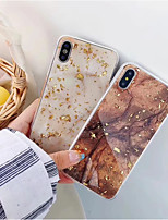 baratos -Capinha Para Apple iPhone XR / iPhone XS Max IMD Capa traseira Mármore Macia TPU para iPhone XS / iPhone XR / iPhone XS Max