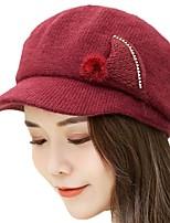 Недорогие -Жен. Классический Вязаная шапочка / Берет / Широкополая шляпа С принтом