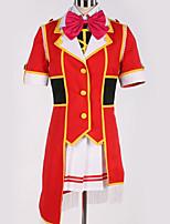 abordables -Inspiré par Aime la vie Cosplay Manga Costumes de Cosplay Costumes Cosplay Couleur Pleine / Nœud papillon Haut / Jupe / Nœud papillon Pour Homme / Femme