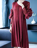 Недорогие -Жен. Классический Прямое Платье Средней длины