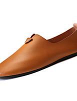 Недорогие -Муж. Комфортная обувь Полиуретан Зима На каждый день Мокасины и Свитер Нескользкий Черный / Серый / Коричневый