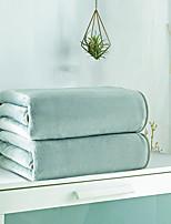 Недорогие -Супер мягкий, Флокированные Простой / Сплошной цвет / Классика 100%микро волокно / Хлопок одеяла