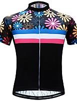 Недорогие -JESOCYCLING Жен. С короткими рукавами Велокофты - Черный Велоспорт Джерси Верхняя часть Быстровысыхающий Виды спорта 100% полиэстер Горные велосипеды Шоссейные велосипеды Одежда / Эластичная