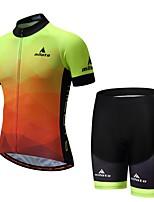 Недорогие -Miloto С короткими рукавами Велокофты и велошорты - светящийся Велоспорт