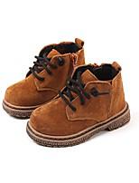 Недорогие -Девочки Обувь Свиная кожа Осень Удобная обувь / Обувь для малышей Ботинки для Дети (1-4 лет) Черный / Кофейный / Темно-русый