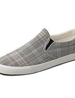 Недорогие -Муж. Комфортная обувь Полотно Лето На каждый день Мокасины и Свитер Нескользкий Контрастных цветов Серый / Хаки