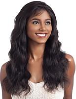 Недорогие -человеческие волосы Remy Полностью ленточные Лента спереди Парик Бразильские волосы Естественные кудри Естественные волны Черный Парик Ассиметричная стрижка 130% 150% 180% Плотность волос