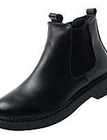Недорогие -Жен. Полиуретан Зима Минимализм Ботинки На низком каблуке Ботинки Черный
