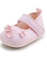 Недорогие -Мальчики / Девочки Обувь Хлопок Зима Удобная обувь / Обувь для малышей На плокой подошве для Ребёнок до года Светло-желтый / Розовый