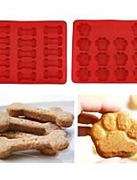 Недорогие -щенок домашнее животное кошка лапы собака кость силиконовые формы торт печенье печенье бисту кухню испечь