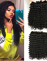 Недорогие -4 Связки Бразильские волосы Крупные кудри Не подвергавшиеся окрашиванию Необработанные натуральные волосы Человека ткет Волосы Пучок волос One Pack Solution 8-28 дюймовый Естественный цвет