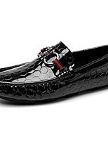Недорогие -Муж. Кожаные ботинки Кожа Весна & осень На каждый день / Английский Мокасины и Свитер Нескользкий Черный