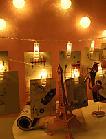 Недорогие -BRELONG® 5 метров Гирлянды 20 светодиоды SMD 0603 Тёплый белый Водонепроницаемый / Творчество / Для вечеринок Аккумуляторы AA 1шт