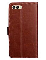 Недорогие -ASLING Кейс для Назначение Huawei Honor 10 Кошелек / Бумажник для карт / со стендом Чехол Однотонный Мягкий Кожа PU для Huawei Honor 10