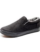 Недорогие -Муж. Комфортная обувь Полиуретан Зима На каждый день Мокасины и Свитер Нескользкий Черный / Серый