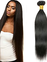 Недорогие -3 Связки Бразильские волосы Прямой человеческие волосы Remy Необработанные натуральные волосы Человека ткет Волосы Сувениры для чаепития Уход за волосами 8-28 inch Естественный цвет