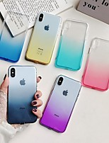 Недорогие -Кейс для Назначение Apple iPhone XS / iPhone XS Max Полупрозрачный Кейс на заднюю панель Градиент цвета Мягкий ТПУ для iPhone XS / iPhone XR / iPhone XS Max