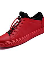 Недорогие -Муж. Комфортная обувь Полиуретан Зима На каждый день Кеды Нескользкий Черный / Красный / Черно-белый