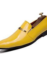 Недорогие -Муж. Комфортная обувь Полиуретан Наступила зима На каждый день Мокасины и Свитер Доказательство износа Черный / Желтый