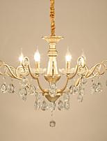 abordables -JLYLITE 6 lumières Bougie Lustre Lumière dirigée vers le haut Plaqué Métal Style mini 110-120V / 220-240V