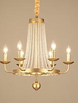 Недорогие -JLYLITE 6-Light Свеча-стиль Люстры и лампы Рассеянное освещение Электропокрытие Металл Свеча Стиль 110-120Вольт / 220-240Вольт