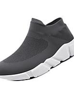 Недорогие -Муж. Комфортная обувь Сетка / Tissage Volant Зима На каждый день Мокасины и Свитер Нескользкий Черный / Серый
