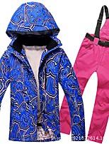 Недорогие -RIVIYELE Муж. Лыжная куртка и брюки С защитой от ветра, Теплый, Воздухопроницаемость Зимние виды спорта Хлопок, Полиэфир, Джинса Наборы одежды Одежда для катания на лыжах / Зима