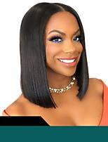 Недорогие -короткие кружева перед парики человеческих волос бразильские реми волосы боб прямой парик с волосами младенца для женщин
