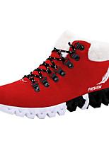 Недорогие -Муж. Комфортная обувь Искусственная кожа Зима На каждый день Кеды Сохраняет тепло Черный / Красный / Синий