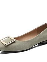 Недорогие -Жен. Замша Осень Милая / Минимализм Обувь на каблуках На толстом каблуке Квадратный носок Пряжки Лиловый / Коричневый / Светло-Зеленый