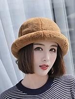 Недорогие -Жен. Классический Вязаная шапочка / Берет / Лыжная шапочка Однотонный