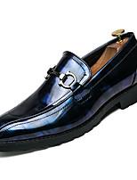 Недорогие -Муж. Комфортная обувь Полиуретан Зима На каждый день Мокасины и Свитер Нескользкий Контрастных цветов Черный / Черный / Красный / Черный / синий