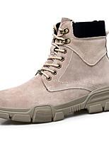 Недорогие -Муж. Комфортная обувь Замша Наступила зима Спортивные / На каждый день Кеды Сохраняет тепло Черный / Бежевый / Серый