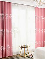 Недорогие -Шторы портьеры Спальня Современный стиль Полиэфирная смесь Вышивка